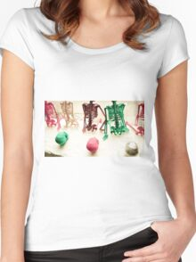 FUNKY SKELETONS!!! Objects Women's Fitted Scoop T-Shirt