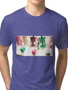 FUNKY SKELETONS!!! Objects Tri-blend T-Shirt