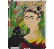 Frida with Monkey and Bird i-pad case iPad Case/Skin
