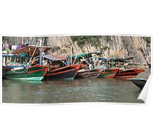 fishing boats Poster