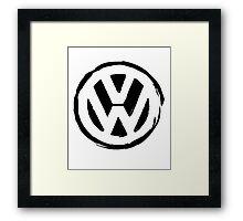 VW Grungy Framed Print