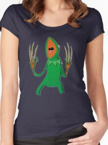Kermit the Horror Frog Women's Fitted Scoop T-Shirt