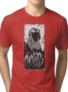 Death Metal Rowlf Muppets Tri-blend T-Shirt