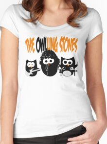 The Owl-Ling Stones Women's Fitted Scoop T-Shirt