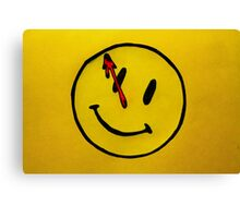 Watchmen Comedian Yellow Canvas Print