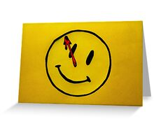 Watchmen Comedian Yellow Greeting Card
