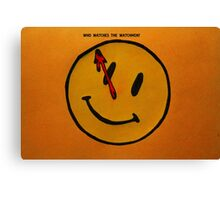 Watchmen Comedian Smiley Face Orange and Yellow Canvas Print
