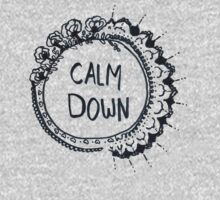 Calm Down (in black) by bexsimone