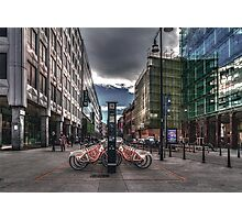 Bicycles parking Photographic Print