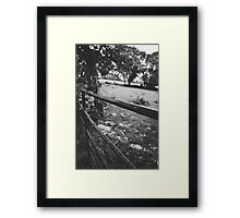 Black & White countryside Framed Print