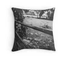 Black & White countryside Throw Pillow