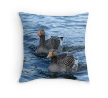 Two ducks Throw Pillow