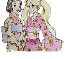 Rapunzel and Snow Kimono by HollieBallard