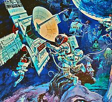 Spaceship Earth Queue Mural Poster by The Department Of Citrus