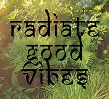 Radiate Good Vibes (photo version) by bexsimone