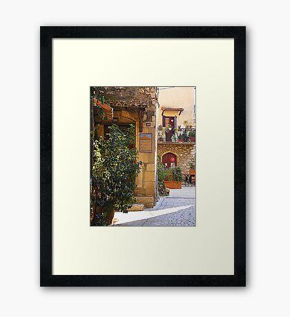 Tourrettes Sur Loup Framed Print