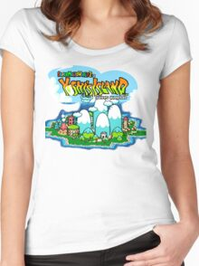 Yoshi's Island Title Screen Women's Fitted Scoop T-Shirt
