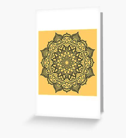 Dense Mandala Greeting Card