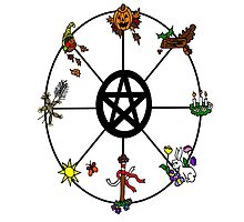 Pagan Wheel of the Year by imphavok