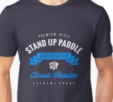 Stand Up Paddle Extreme Sport W&B Design Art Unisex T-Shirt