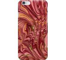Antique Marbled Paper Pink Red Gold iPhone Case/Skin