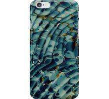 Antique Marbled Paper Blue White Aqua Teal iPhone Case/Skin