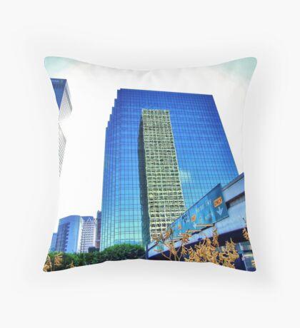 Downtown Plaza Throw Pillow