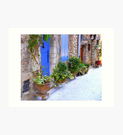 The Blue Doors Of A Provencal Village Art Print