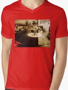 Turntables Mens V-Neck T-Shirt
