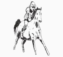 Scout Stormtroopers on a Horse by Trav Nash
