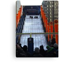 60 Foot High Toboggan Run, Super Bowl Boulevard, Times Square, New York City  Canvas Print