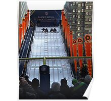 60 Foot High Toboggan Run, Super Bowl Boulevard, Times Square, New York City  Poster
