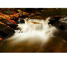 Autumn Water Falls Photographic Print