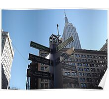 Super Bowl Boulevard, Empire State Building, Herald Square, Super Bowl Week, New York City  Poster