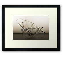 Mechanical Wire  B&W Framed Print