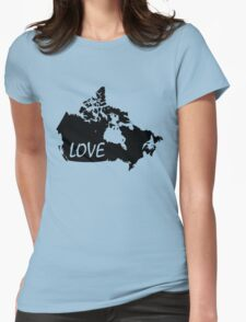 Canada Love Womens Fitted T-Shirt