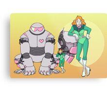 Ness Valentine & Her Robot, Butch Metal Print