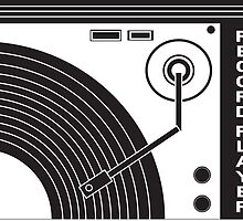 Vintage Record Player (Black & White) by simplemachine