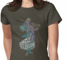 Skyward Sword Zelda Wordle Womens Fitted T-Shirt