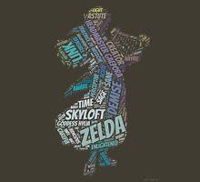 Skyward Sword Zelda Wordle Womens Fitted T-Shirt