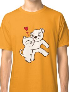 Cat Loves Bear Hug T-Shirts, Hoodies, Kids Clothes, and Stickers Classic T-Shirt