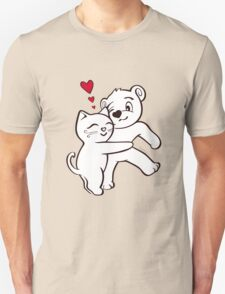 Cat Loves Bear Hug T-Shirts, Hoodies, Kids Clothes, and Stickers Unisex T-Shirt