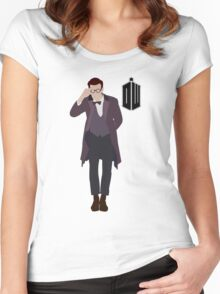 The Eleventh Doctor | Matt Smith Women's Fitted Scoop T-Shirt