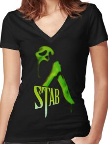 Stab - From the Scream series Women's Fitted V-Neck T-Shirt
