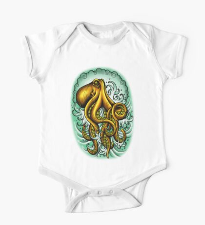 Traditional Octopus One Piece - Short Sleeve