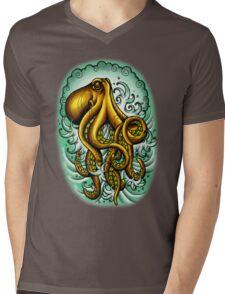 Traditional Octopus Mens V-Neck T-Shirt