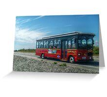 Newport Trolley on Ocean Drive Greeting Card