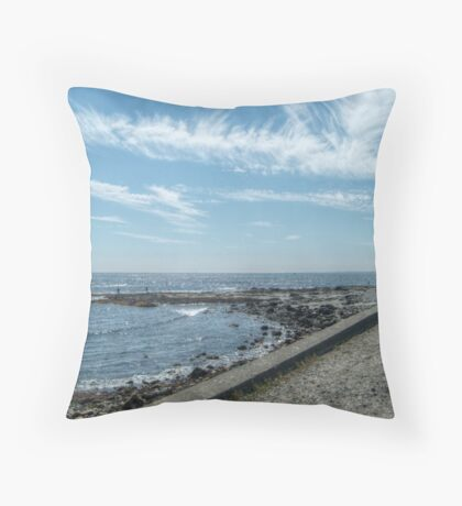 South Most Tip of Aquidneck Island, Ocean Drive Throw Pillow