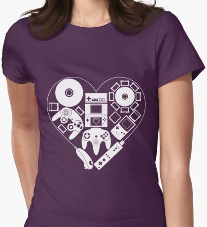 Nintendo Love Womens Fitted T-Shirt