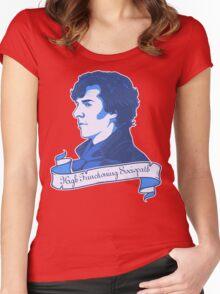 Sherlock Holmes T-shirt Women's Fitted Scoop T-Shirt